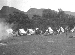 This photo is of a camp was held on the site of Grampians Paradise Camping and Caravan Parkland in 1928
