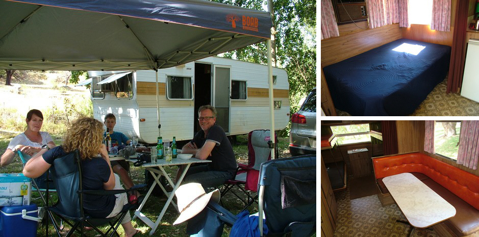 """Emu"" (C Van) our 1760's 6 berth Onsite Caravan at Grampians Paradise Camping and Caravan Parkland"