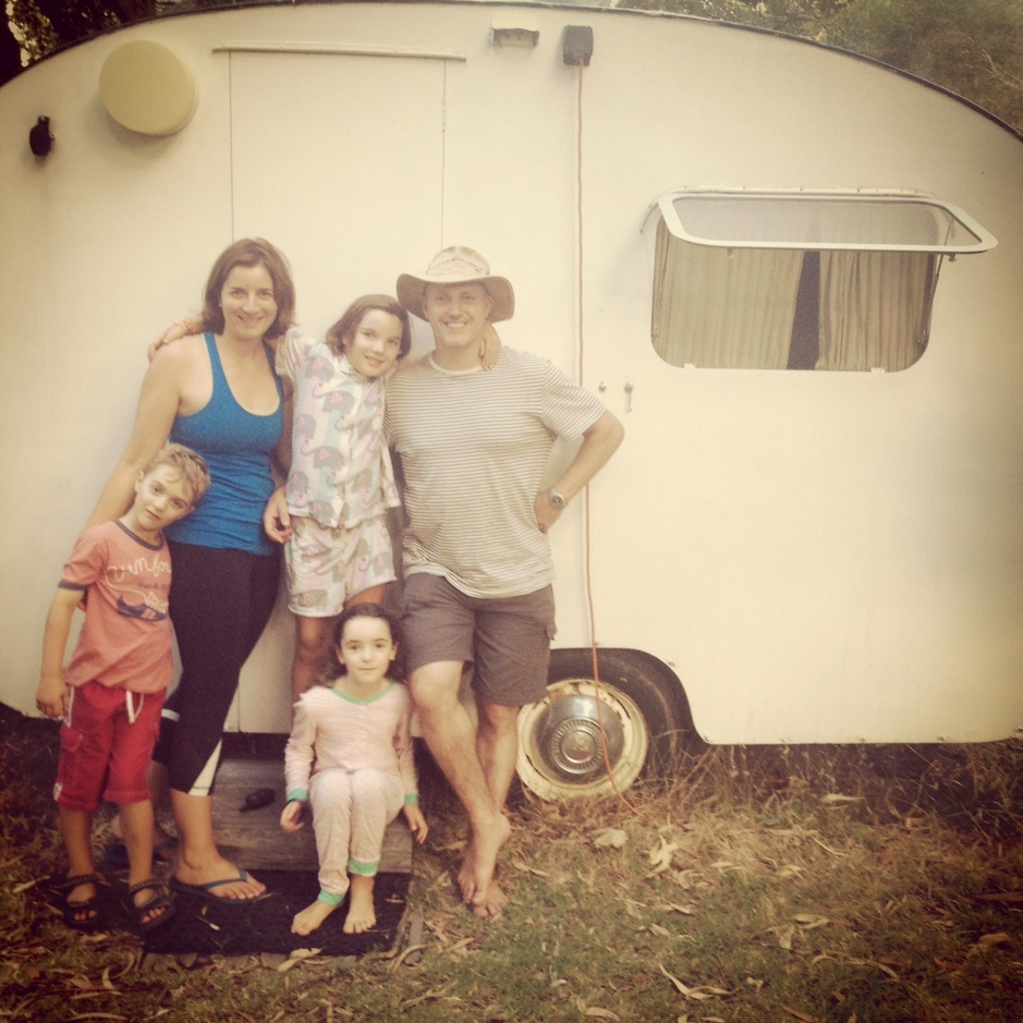 "Stay in ""Koala"" (E Van) our 1950's 3 berth onsite caravan at Grampians Paradise Camping and Caravan Parkland"